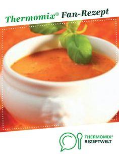 Tomatencremesuppe von Thermomix Rezeptentwicklung. Ein Thermomix ® Rezept aus der Kategorie Suppen auf www.rezeptwelt.de, der Thermomix ® Community.