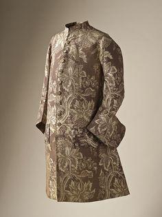 Man's coat silk lampas 1745-50 - 1700–50 in Western fashion - Wikipedia, the free encyclopedia