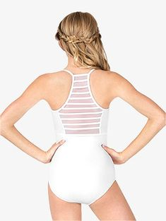 Womens Ladder Mesh Back Camisole Leotard - Style No Baton Twirling Costumes, Dance Costumes, Halloween Costumes, Dance Mom Shirts, Hip Hop Dance Outfits, Camisole, Salsa, Pullover Shirt, Playsuit Romper