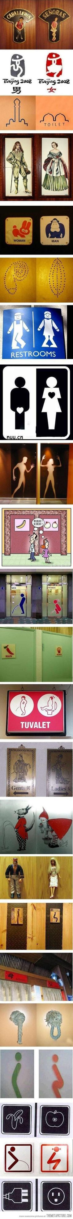 Funny pictures about Creative toilet signs around the world. Oh, and cool pics about Creative toilet signs around the world. Also, Creative toilet signs around the world. Bathroom Humor, Bathroom Signs, Restroom Signs, Ada Bathroom, Bathroom Mirrors, Bathroom Hardware, Bathroom Storage, Visual Design, Wc Sign