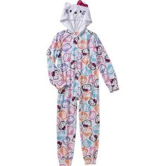 7a7fb3c237 Hello Kitty - Toddler Girl Hooded Blanket Sleeper - Walmart.com