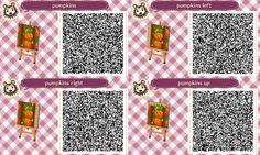 Animal Crossing QR Code blog Pumpkin path Set#1 of 3<---