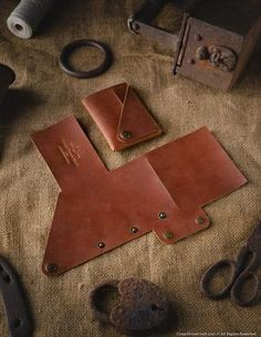 Crazy Horse, Leather Case, Leather Wallet, Unisex, Brown Wallet, Branding Iron, Minimalist Wallet, Slim Wallet, Card Wallet