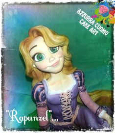 I loved sharing with all of you my tutorials for the making of this character and now it's time to show the final result! Hope you like my Rapunzel …. and if you're trying my step by step I would love to see your works too! Rapunzel Cake, Tangled Rapunzel, Disney Tangled, Polymer Clay Disney, Baking School, Disney Frozen Birthday, Fondant Toppers, Fondant Figures, Book Themes