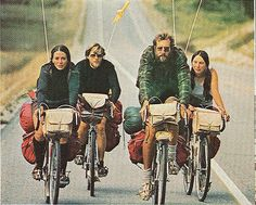 National Geographic 1973 - bike tourists & their loaded bikes