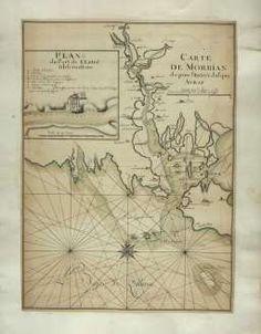 Carte de Morbian depuis l'entrée jusqua Avray    Auteur : Jean-Baptiste Bourguignon d'Anville (1697-1782) Date : 17..  Taille : 1824x2340 (0.8 MO)  Origine : BNF