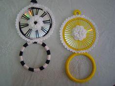 Creative Ideas to Get Inspired Cd Crafts, Diy And Crafts, How To Make Ornaments, How To Make Wreaths, Cd Decor, Mini Christmas Tree, Christmas Ornaments, How To Make Coasters, Cd Art