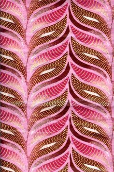 Pink & bronze graphic ferns
