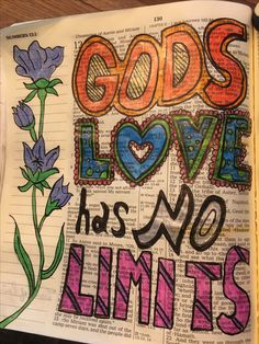 Gods love has no limits. #biblejournaling