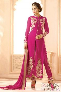 Remarkable Dark Pink Party Wear Salwar Suit  http://www.fashionfemina.com/catalogs/miraculous-heavy-designer-salwar-suit-collection/ #salwarsuit #partywearsalwarsuit #Online Shopping Salwar Suit #wedding Collection #Designer Collection #Latest Fashion #Women dresses #Heavy Salwar Suit #online shopping salwar suit