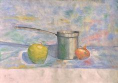 Vtg Watercolor Expressionist Painting Kitchen Still Life Kitchen Original Art   eBay
