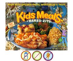 The Best Snacks for Kids with Food Allergies: Amy's Kitchen Frozen Meals (via Parents.com)