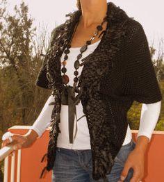Vero Amore Tejidos Artesanales Kimono Top, Ruffle Blouse, Tops, Women, Fashion, Vestidos, Weaving Looms, Wool Scarf, Over Knee Socks