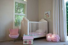 french provincial cot with pink accessories