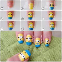 Despicable Me : Minions Nail Art