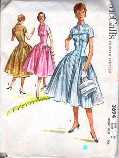 McCall's 3694, ca 1956; Sz 14/Bust 32