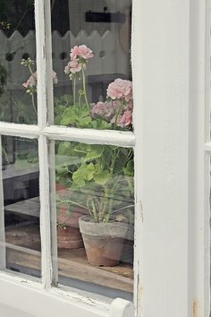 June 2016 in Norway Scandinavian Garden, Nantucket Cottage, Pink Geranium, Vibeke Design, Dere, Window Art, Shades Of White, Garden Styles, Love Flowers