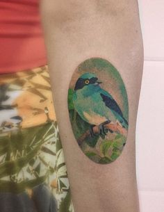Cassio Magne bird tattoo
