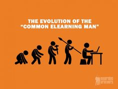 """The Evolution of the """"Common eLearning Man""""  In this post, learn about the evolution of the eLearning industry. Learn about the trends and things that you need to know about the eLearning future.  Learn more here: http://bit.ly/1BABFTV  #eLearning #eLearningHistory #eLearningIdeas #eLearningTips"""