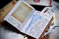 How to Scrapbook - words, phrases & map keepsakes