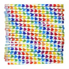 Brighten your day with these Rainbow Heart Bobby Pins Pack). This 24 pack features 24 white bobby pins with bold coloured hearts printed on them in a diagonal. You will look gorgeous with these Rainbow Heart Bobby Pins Pack). Rainbow Heart, Heart Print, Brighten Your Day, Rainbows, Sprinkles, Hair Clips, Bobby Pins, My Heart, Packing