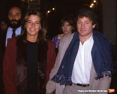 Photo Flash: Remembering Robin Williams -- Robin Williams with wife Valerie Velardi on September 20, 1981 in New York City.