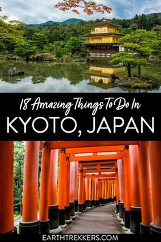 Best things to do in Kyoto Japan. Kinkaku-ji Temple, Ginkaku-ji Temple, Arashiyama Bamboo Forest, Kiyomizudera Temple, Fushimi Inari Taisha, Nijo Castle, and more.