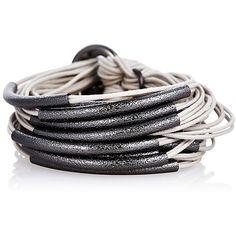 Sandblasted Iridium Tube Bracelet Gray Bangle Bracelets ($225) ❤ liked on Polyvore featuring jewelry, bracelets, hinged bracelet, bangle jewelry, grey jewelry, gillian julius jewelry and hinged bangle