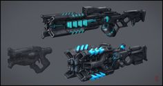 Armor by Victor Kudryashov on ArtStation. Anime Weapons, Sci Fi Weapons, Weapon Concept Art, Weapons Guns, Fantasy Weapons, Sci Fi Fantasy, Armes Futures, Laser Tag, Future Weapons