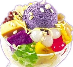 HALO-HALO only in the Philippines - famous Filipino ice cream mix with various exotic fruits