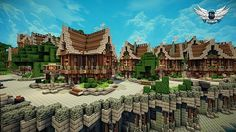 Anoria Town Minecraft World Save