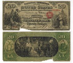 U.S. 1865 $20 National Bank Note : Lot 169