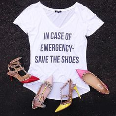In case of emergency.. #Nordstrom #Valentino #POV #Savetheshoes #FashionIsland | Content shared via nordstrom Inspiration Gallery