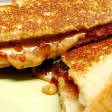 Grilled Peanut Butter and Jelly Sandwich-- ready to try this on my new panini maker. :-)