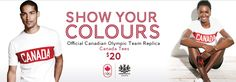 SHOW YOUR OLYMPIC COLOURS CANADA!