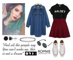 "270-> ""Gasoline"" by Halsey by dimibra on Polyvore featuring Converse, BERRICLE and romwe"