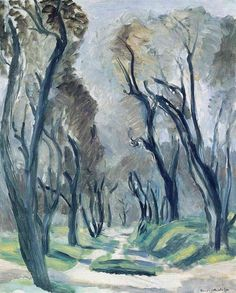Henri Matisse (French, 1869-1954), Avenue of Olive Trees, 1952. Oil on canvas. Musée d'Art Moderne de la Ville de Paris.  Courtesy of : A cocktail in her hand and confetti in her hand
