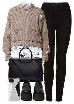"""""""Untitled #3217"""" by london-wanderlust ❤ liked on Polyvore featuring Topshop, TIBI, The Row, Jeffrey Campbell and Marc by Marc Jacobs"""