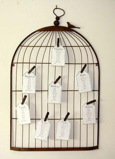 cage plan de table