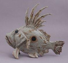 """Big Kahuna"" John Dory fish sculpture from Out of the Blue Ceramic Studio Ceramic Pottery, Pottery Art, Ceramic Art, Pottery Animals, Ceramic Animals, Kintsugi, Ceramic Pinch Pots, Clay Fish, Metal Fish"