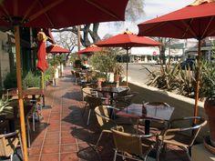 Dos Carlitos Restaurant patio, just steps away from ForFriends Inn in Santa Ynez.