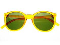 Retro Wayfarer Sunglasses Yellow Green W1344