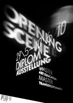 diploma exhibition poster for master's courses in Art Education at the Zürcher Hochschule der Künste, designed by Rob and Rose