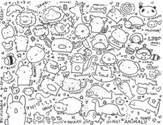 A page of random cute doodles by ~Aviator334391 on deviantART so cute <3 found it on google :o