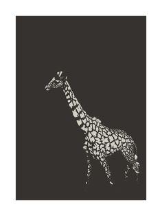 fading giraffe Limited Edition Art Print by Erin Niehenke | Minted