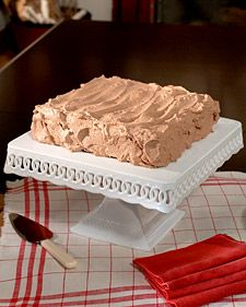 Hmm,need to try to recreate aunt joyces frosting. Hot Milk Cake with Chocolate Whipped Cream Frosting