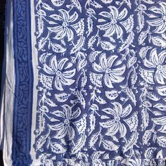 Indian cotton fabric Remnant  block print by UPGFabricAnnex