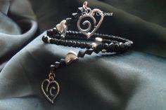 bracciale nero LOVE, by Mila Bijoux, 3,90 € su misshobby.com