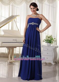 Buy royal blue beaded chiffon empire party dress for formal evening from vintage party dresses collection, strapless neckline empire in blue color,cheap floor length dress with lace up back and for prom formal evening party . Royal Blue Homecoming Dresses, Graduation Dresses Long, Cheap Homecoming Dresses, Best Prom Dresses, Prom Dresses Online, Dresses 2013, Party Dresses, Dress Online, Summer Dresses
