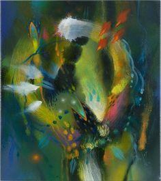 Aguzar los sentidos y palpar la mano de la reflexión que me lleva y me sumerge en la realidad me permite también recrear en pintura sus vibraciones; a ellas intangibles como los sueños les siento su irracionalidad, como en un juego con sus reglas esas vibraciones me advierten de repente de rastros centenarios señalándome sobre el estado de las cosas o sobre nuestra conducta frente a la generosidad de la naturaleza, Wassily Kandinsky, Original Artwork, Abstract Art, Valor Real, Animals, Painting, Colors, Google, Wall